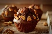 Muffins cu ciocolata si nuca