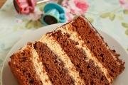 Sectiune tort de ciocolata cu caramel