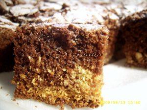 Negresa cu ciocolata si nuca de cocos