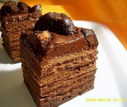 Tort cu trufe de ciocolata