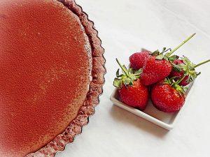tarta cu ciocolata si crema de branza