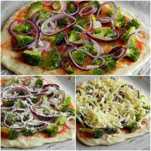 Pizza cu broccoli