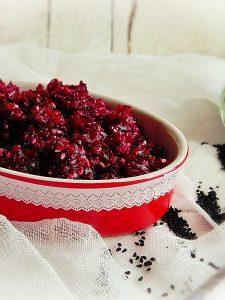 salata de sfecla cu seminte