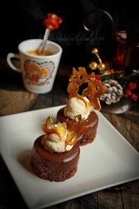 Prajitura cu ciocolata, cafea si caramel