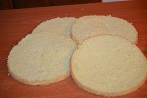 blat pentru tort cu ciocolata alba si afine