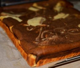 Prajitura cu branza si ciocolata fara blat