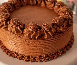 Tort cu crema de ciocolata cu Nutella si mascarpone